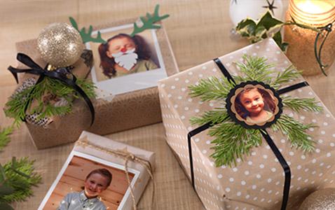 Geschenke mit Fotos verzieren