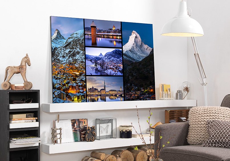 Leicht und modern zaubern Sie mit einem Wandbild auf Alu-Dibond Freude an Ihre vier Wände