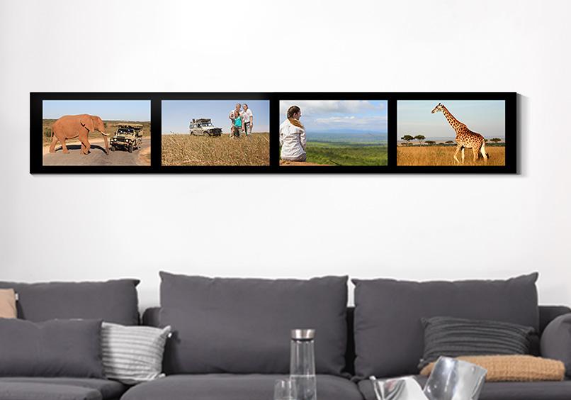 Ihr schönster Fotomix im edlen Panorama-Format oder als moderner Blickfang im Extrem-Hochformat