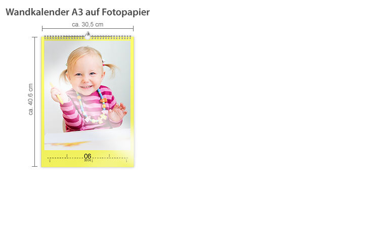 Wandkalender A3 Fotopapier