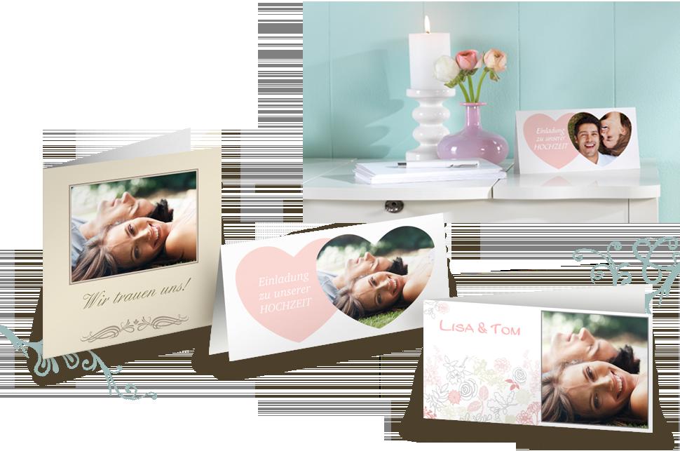 Die perfekte Hochzeitseinladung - dank unserer Grußkarten