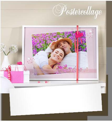 Die Lovestory des Paares als Collage