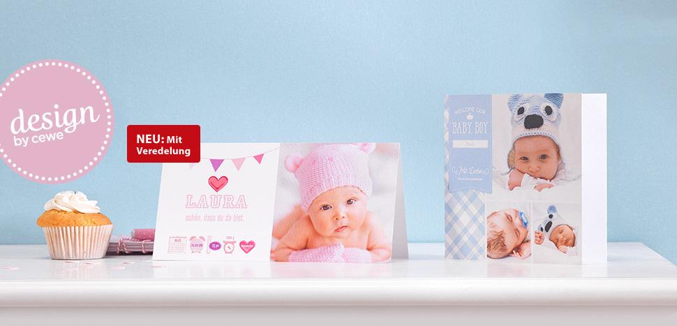 It's a boy! It's a girl! Mit Babykarten Ihre Familie und Freunde an Ihrem Glück teilhaben lassen