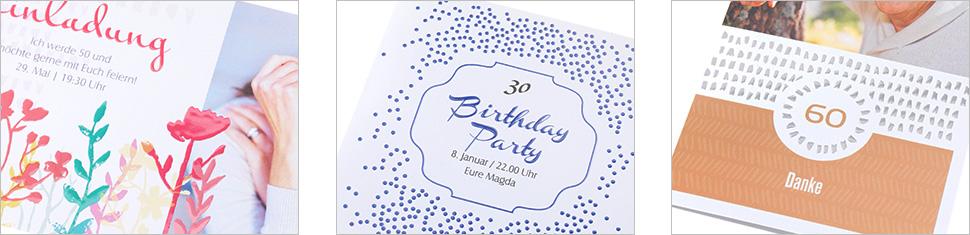 Geburtstagdesigns mit Effektlack-Veredelung gestalten