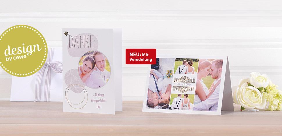 Hochzeitskarten gestalten mit Design