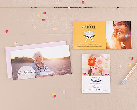 Einladungs- und Danksagungskarten