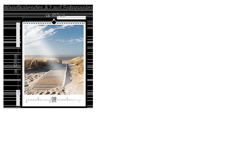 Wandkalender A2 Fotopapier