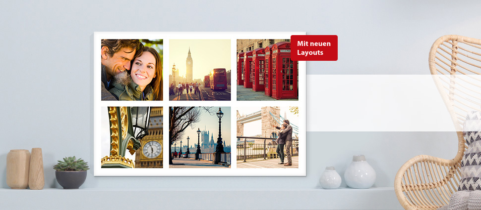 Wandbilder und poster online gestalten erstellen colorfotoservice - Fotoleinwand collage gestalten ...