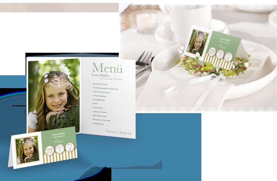 Tisch- und Menükarten (10er Set)