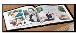 Exemples de livre photo sur le thème du mariage