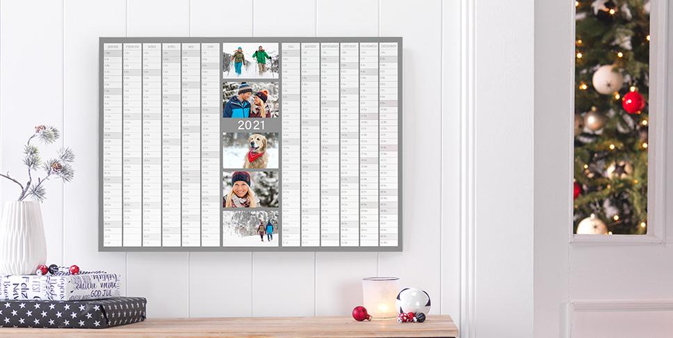 Planning annuel avec vos photos