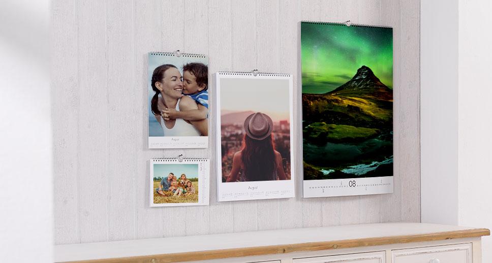 Calendrier mural personnalisé avec photos