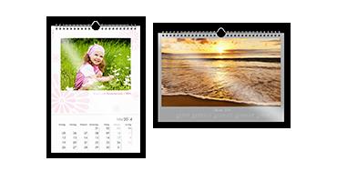 Calendario da parete A4 su carta fotografica satinata