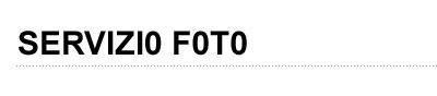 Servizio Fotografico Online